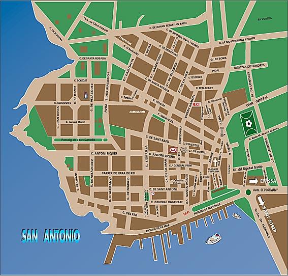San Antonio Sant Antoni de portmany map – San Antonio Tourist Map